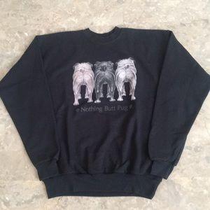 Vintage Pug Sweatshirt